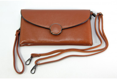 Женский клатч Kuqi 8688brown коричневый