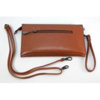 Женский клатч Kuqi 8788brown коричневый