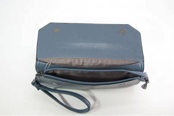 Женский клатч Kuqi 8788grey серый