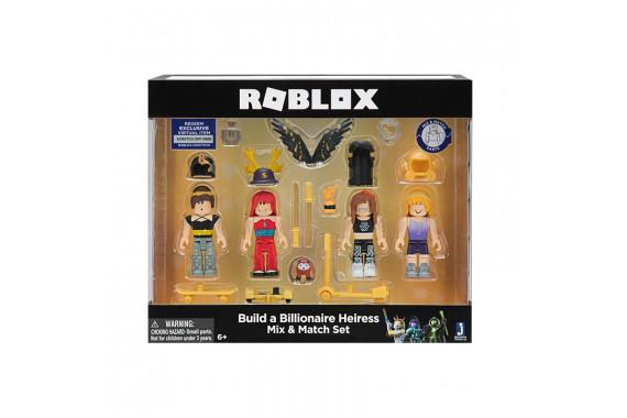 "Набор из 4 фигурок Roblox ""Build a Billionaire Heiress"" (Jazwares)"