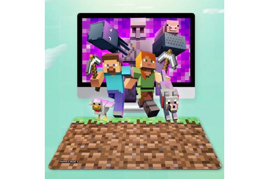 Большой компьютерный коврик Майнкрафт (Блок земли)
