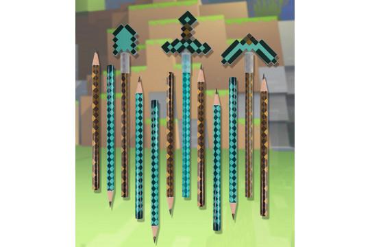 Набор из 12 карандашей Майнкрафт