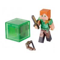 """Фигурка """"Алекс и слизень"""" Minecraft Overworld Alex (Jazwares)"""