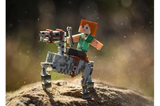 "Фигурка ""Алекс со скелетом лошади"" Minecraft (Jazwares)"