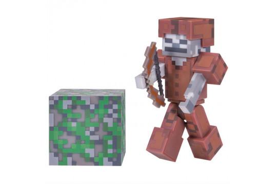 "Фигурка Minecraft ""Скелет в кожаной броне"" Skeleton in Leather Armor (Jazwares)"