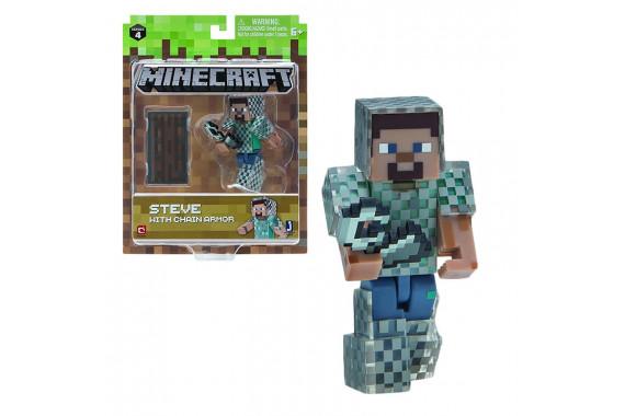 "Фигурка ""Стив в кольчуге"" Steve with Chain Armor Minecraft (Jazwares)"