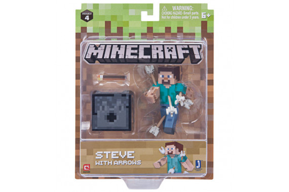 "Фигурка Minecraft ""Стив со стрелами"" Steve with Arrows (Jazwares)"