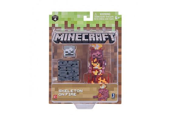 "Фигурка Minecraft ""Скелет в огне"" Skeleton on Fire (Jazwares)"