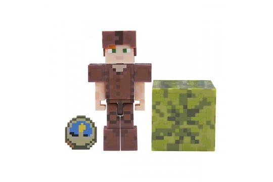 "Фигурка Minecraft ""Алекс в кожаной броне"" Alex in Leather Armor (Jazwares)"