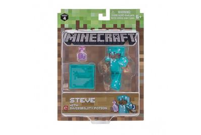 """Фигурка Minecraft """"Стив с зельем невидимости"""" Steve with Invisibility Potion (Jazwares)"""
