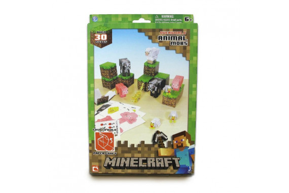 "Бумажный конструктор Minecraft Паперкрафт 16701 ""Дружелюбные мобы"""