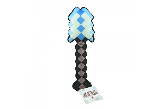 """Плюшевая игрушка пиксельная """"Алмазная Лопата"""" Майнкрафт 30см"""