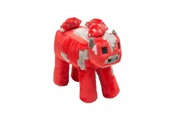 """Большая плюшевая игрушка Майнкрафт """"Грибная корова"""" Mooshroom cow 22 см"""