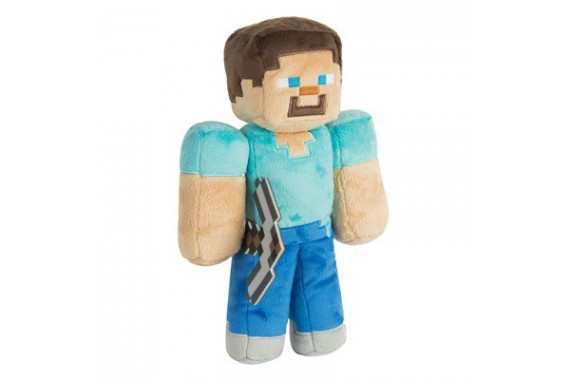 "Мягкая игрушка ""Стив с киркой"" (Steve) из Майнкрафт (30 см)"
