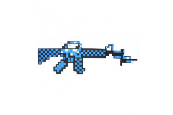 Пиксельный автомат M16 Майнкрафт (алмазный)