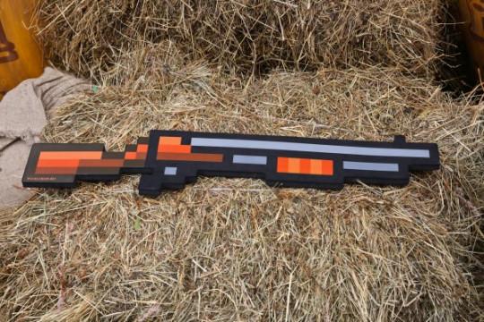 Пиксельная винтовка/дробовик Майнкрафт (80см)