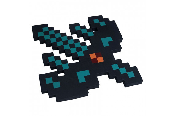 Пиксельный алмазный Лук-меч Майнкрафт 33см