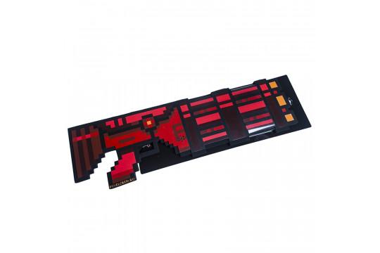 Пиксельный Миниган со звуком Красный 8Бит (60см)