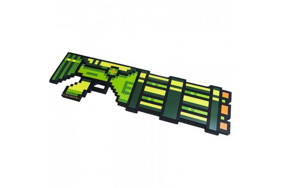 Пиксельный Миниган со звуком Зеленый 8Бит (60см)