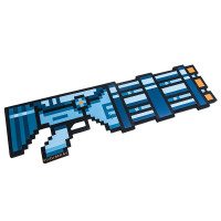 Пиксельный Миниган со звуком Синий 8Бит (60см)