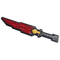 Пиксельный Ледяной Меч Красный 8Бит (60см)