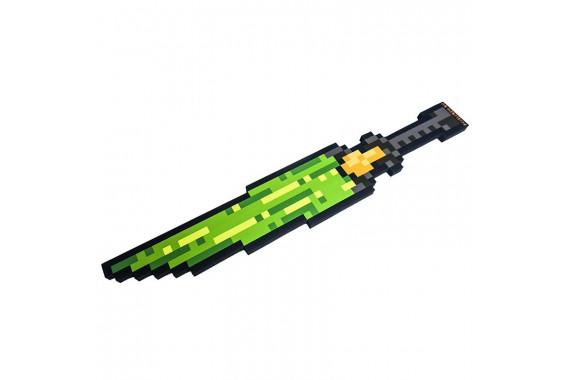 Пиксельный Ледяной Меч Зеленый 8Бит (60см)