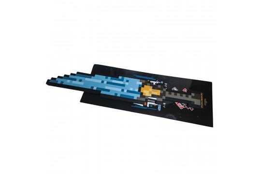 Пиксельный Ледяной Меч Синий 8Бит (60см)