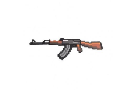 Пиксельный автомат AK47 Майнкрафт 68см