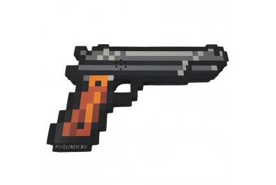 """Пиксельный пистолет """"Кольт"""" Майнкрафт со звуком и светом 24см"""