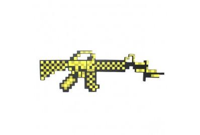 Пиксельный автомат M16 Майнкрафт (золотой)