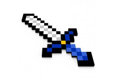 Пиксельный железный меч Майнкрафт (60см)