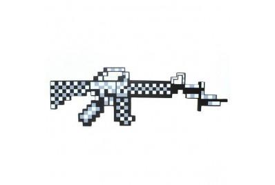 Пиксельный автомат M16 Майнкрафт (железный)