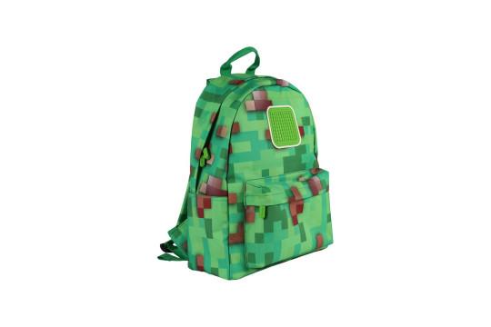 Рюкзак Funny square U18-1 Майнкрафт (зеленый)