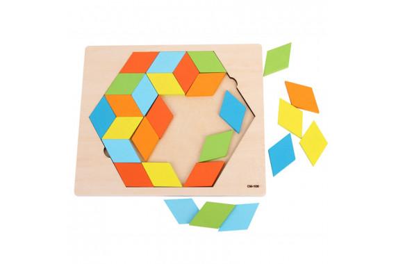 Головоломка Wood rhombus